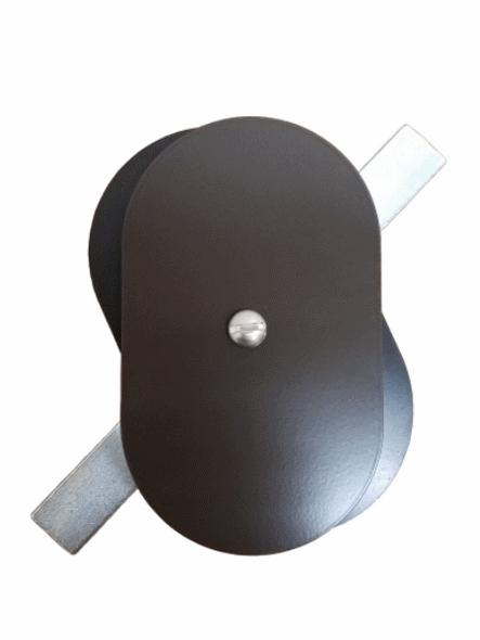"Hand Hole Cover - 3""x5"" Flat Oval Aluminum  - Bronze"