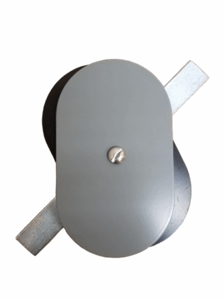 "Hand Hole Cover - 3""x5"" Flat Oval Aluminum  - Grey"