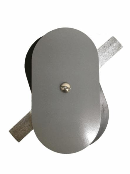 "3""x5.5"" Flat Oval Grey Aluminum Hand Hole Cover"