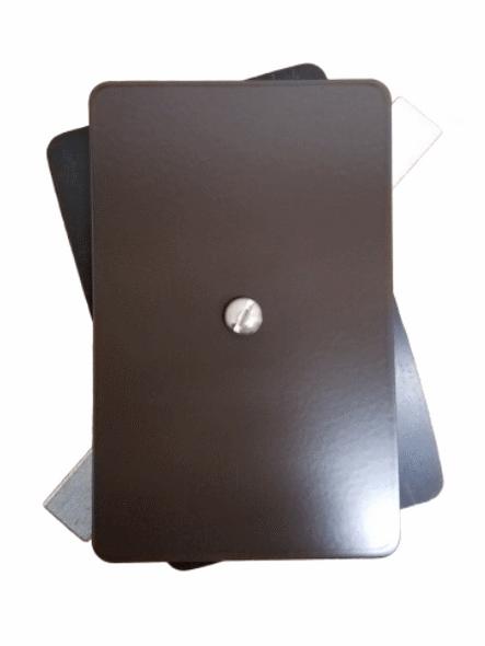 "3.5""x5.5"" Flat Rectangular Dark Bronze Aluminum Hand Hole Cover"
