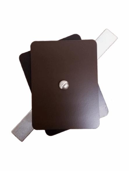 "Hand Hole Cover  - 3""x4"" Flat Rectangular Aluminum - Bronze"