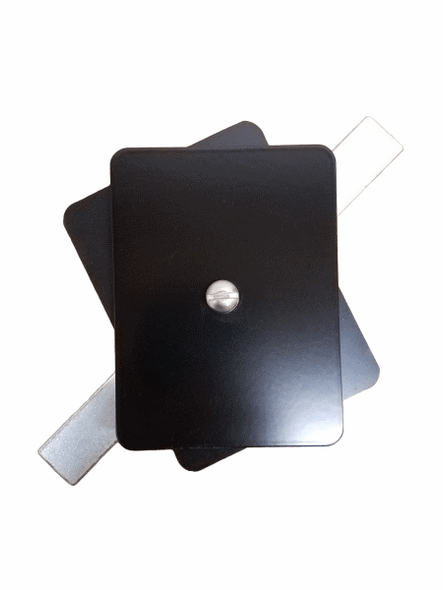 "Hand Hole Cover - 3""x4"" Flat Rectangular Aluminum  - Black"