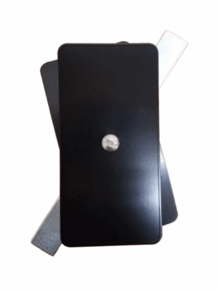 "Hand Hole Cover - 2.5""x5"" Flat Rectangular Aluminum - Black"