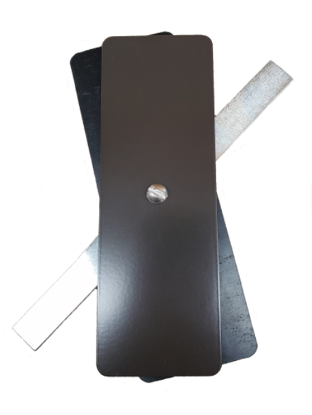 "Hand Hole Cover - 2.5""x7.25"" Flat Rectangular Steel  - Bronze"