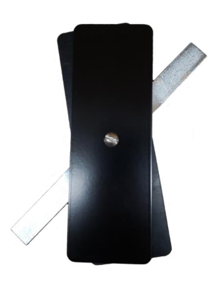 "Hand Hole Cover - 2.5""x7.25"" Flat Rectangular Steel - Black"