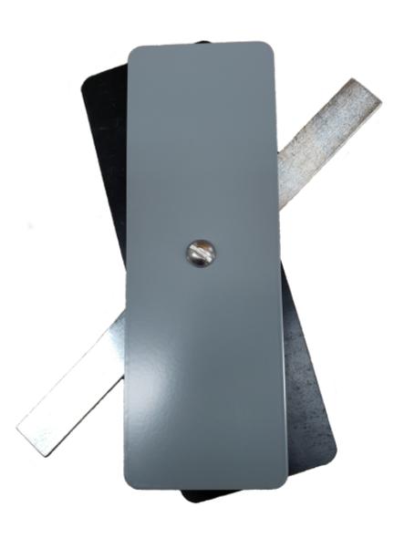 "Hand Hole Cover - 2.5""x7.25"" Flat Rectangular Steel  - Grey"