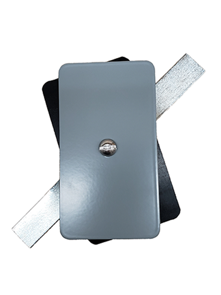 "Hand Hole Cover - 2.5""x4.5"" Flat Rectangular Steel  - Grey"