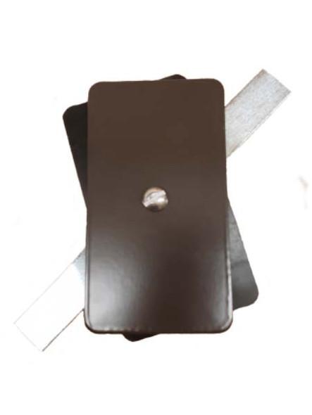 "2.5""x4.5"" Flat Rectangular Dark Bronze Steel Hand Hole Cover"