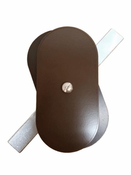 "2.5""x5"" Flat Oval Dark Bronze Steel Hand Hole Cover"
