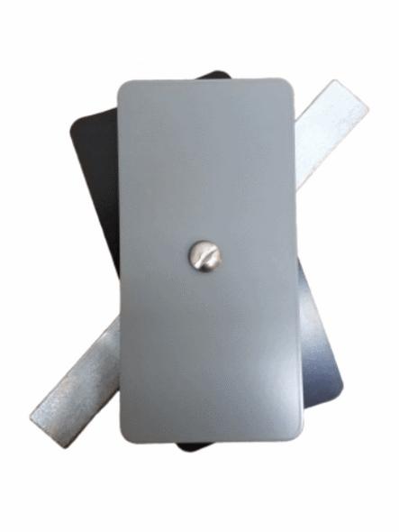 "Hand Hole Cover - 2.5""x5"" Flat Rectangular Steel  - Grey"