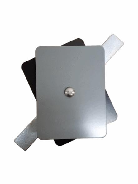"Hand Hole Cover - 3""x4"" Flat Rectangular Steel  - Grey"