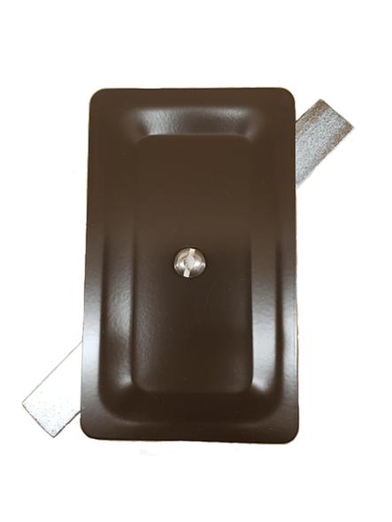 "3""x5"" Stamped Rectangular Dark Bronze Steel Hand Hole Cover -"
