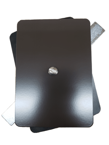 "3.5""x5"" Flat Rectangular Dark Bronze Steel Hand Hole Cover"