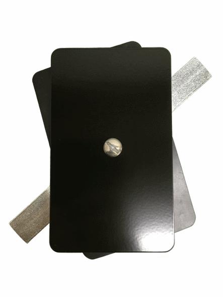 "Hand Hole Cover - 3""x5"" Flat Rectangular Steel - Black"