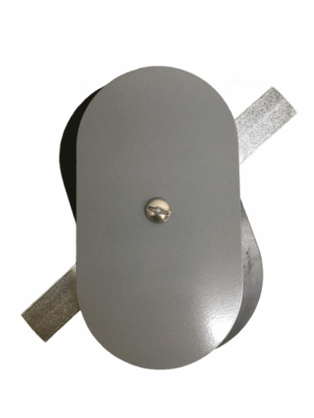 """3""""x5.5"""" Flat Oval Grey Steel Hand Hole Cover"""