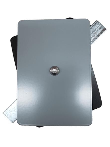 "3.5""x5"" Flat Rectangular Grey Steel Hand Hole Cover"