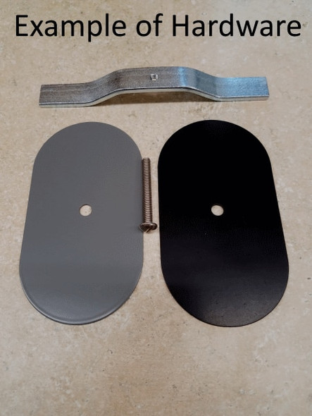 """5""""x5"""" Flat Round Black Steel Hand Hole Cover"""