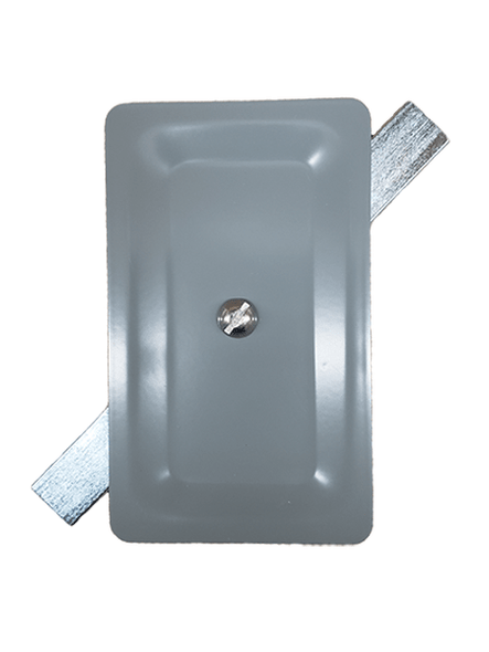 "3""x5"" Blemish Standard Rectangular Grey Steel Hand Hole Cover"