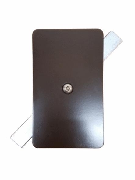 "3""x5"" Tamper Resistant Rectangular Dark Bronze Steel Hand Hole Cover -  3/16"" Thick"