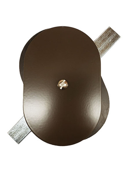 "3.25""x5"" Flat Oval Dark Bronze Steel Hand Hole Cover"