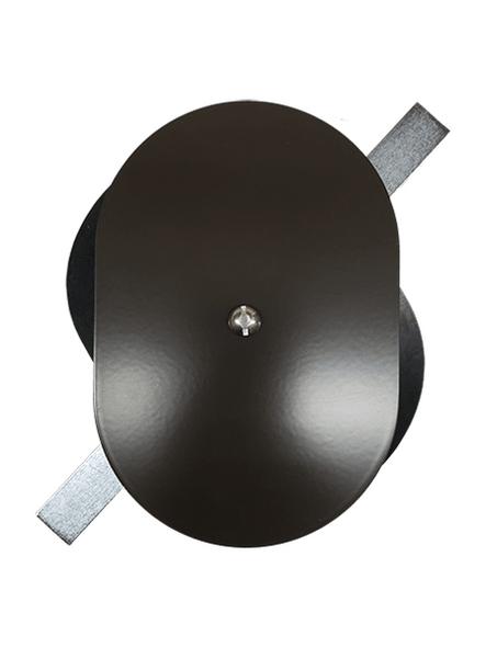 "4.25""x6.25"" Flat Oval Dark Bronze Steel Hand Hole Cover"