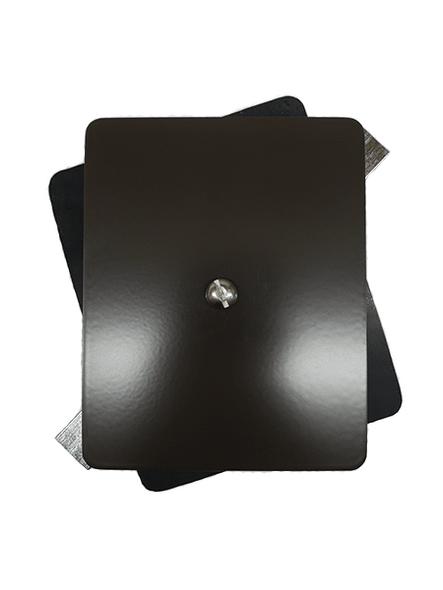 "4""x5"" Flat Rectangular Dark Bronze Steel Hand Hole Cover"