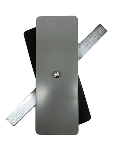 "2.5""x7"" Flat Rectangular Grey Steel Hand Hole Cover"