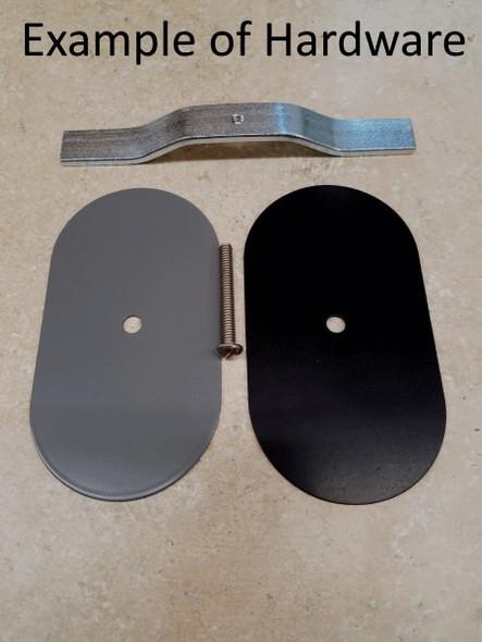 "3.25""x5"" Flat Rectangular Grey Steel Hand Hole Cover"