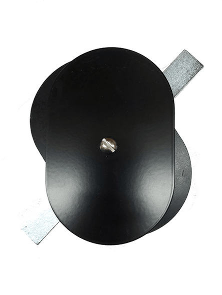"""3.25""""x5"""" Flat Oval Black Steel Hand Hole Cover"""