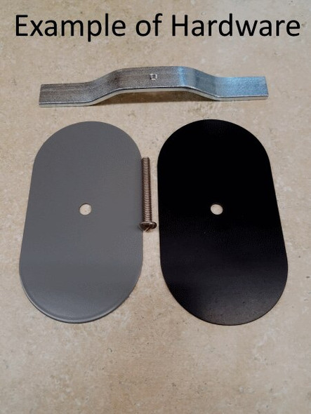 """3.25""""x5"""" Flat Oval Grey Steel Hand Hole Cover"""