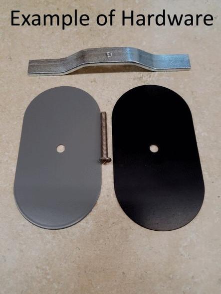 "3""x7"" Flat Rectangular Black Steel Hand Hole Cover"