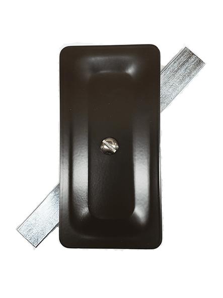 "2.5""x5"" Stamped Rectangular Dark Bronze Steel Hand Hole Cover"