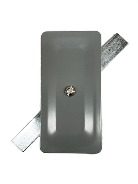 """2.5""""x5"""" Stamped Rectangular Grey Steel Hand Hole Cover"""