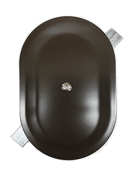 """4""""x6"""" Stamped Oval Dark Bronze Steel Hand Hole Cover"""