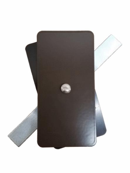 "Hand Hole Cover  - 2.5""x5"" Flat Rectangular Steel - Bronze"