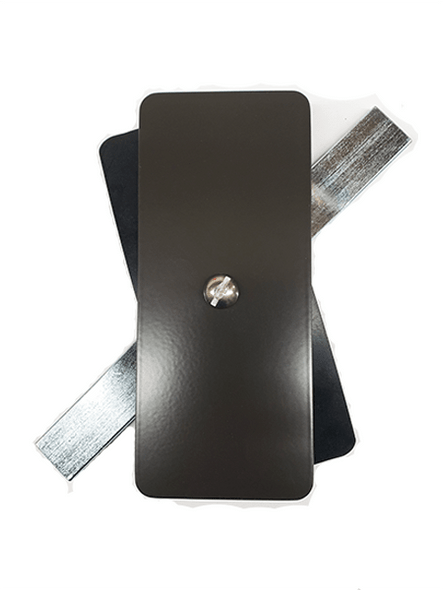 "2.25""x5.25"" Flat Rectangular Dark Bronze Steel Hand Hole Cover"