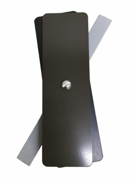 "Hand Hole Cover - 2.25""x7.25"" Flat Rectangular Steel  - Bronze"