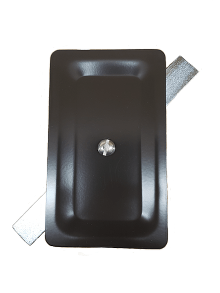 "3""x5"" Stamped Rectangular Dark Bronze Aluminum Hand Hole Cover -"