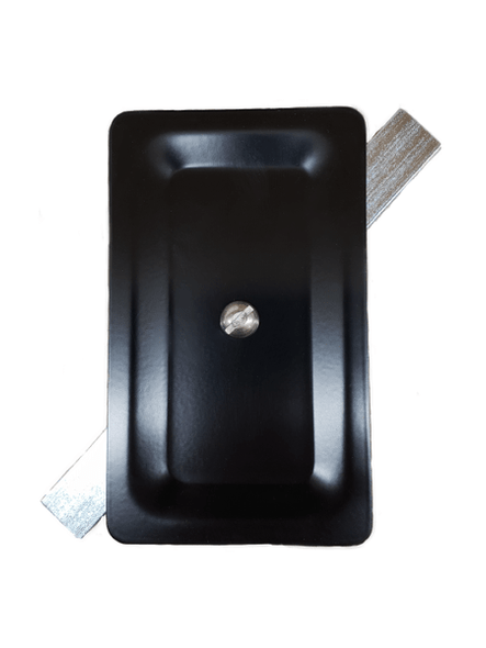 """3""""x5"""" Blemished Stamped Rectangular Black Steel Hand Hole Cover"""