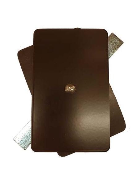 "3.25""x5.25"" Flat Rectangular Dark Bronze Steel Hand Hole Cover"