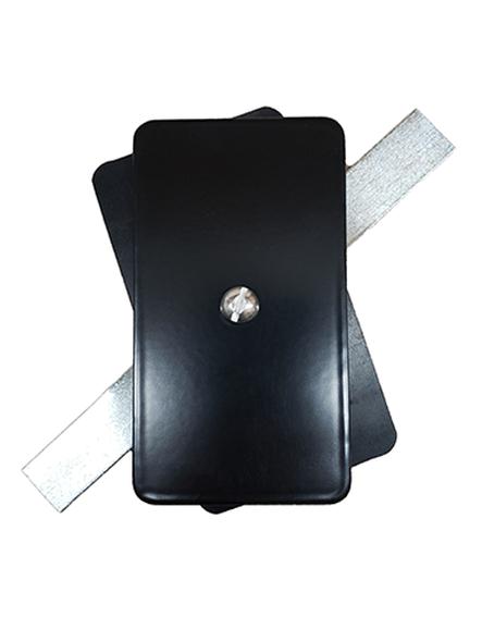 "Hand Hole Cover  - 2.5""x4.5"" Flat Rectangular Steel - Black"