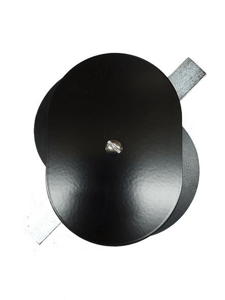"""3.5""""x5"""" Flat Oval Black Steel Hand Hole Cover"""