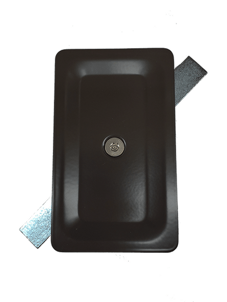 "3""x5"" Tamper Resistant Stamped Rectangular Dark Bronze Steel Hand Hole Cover -"