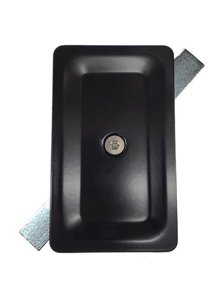 "3""x5"" Tamper Resistant Stamped Rectangular Black Steel Hand Hole Cover -"