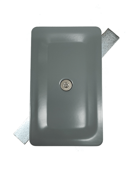 """3""""x5"""" Tamper Resistant Stamped Rectangular Grey Steel Hand Hole Cover -"""