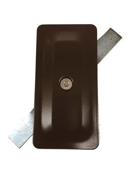 "2.5""x5"" Tamper Resistant Stamped Rectangular Dark Bronze Steel Hand Hole Cover -"