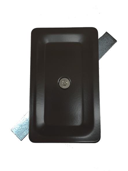 "3""x5"" Blemished Tamper Resistant Stamped Rectangular Dark Bronze Steel Hand Hole Cover -"