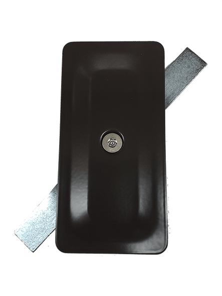"2.5""x5"" Blemished Tamper Resistant Stamped Rectangular Dark Bronze Steel Hand Hole Cover -"