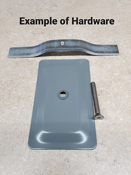 "3""x5"" Blemished Tamper Resistant Stamped Rectangular Grey Steel Hand Hole Cover -"
