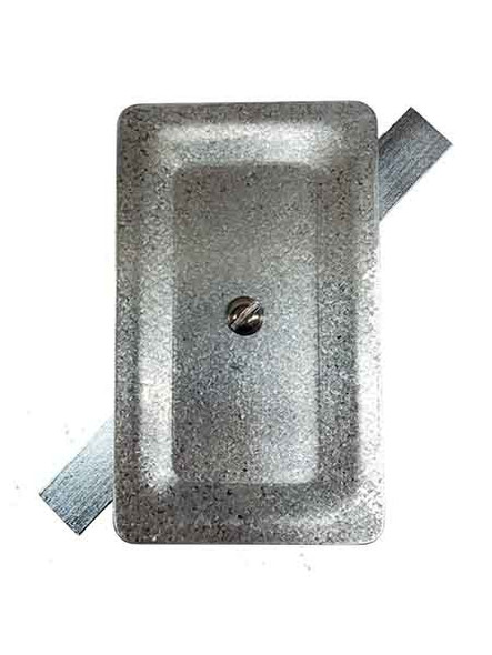 """3""""x5"""" Stamped Rectangular Galvanized Steel Hand Hole Cover"""